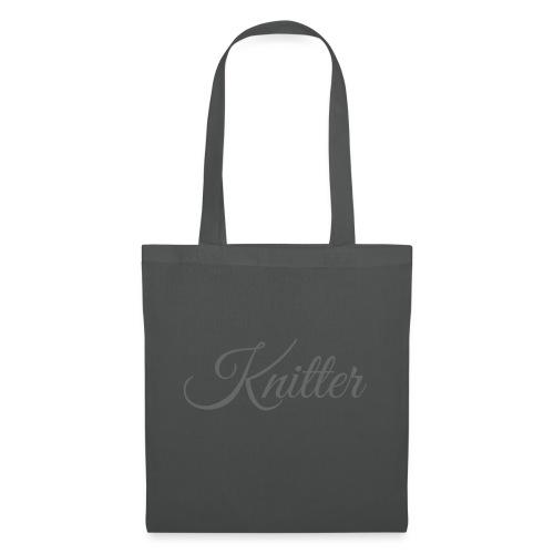 Knitter, dark gray - Tote Bag