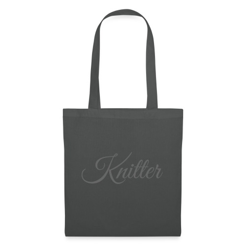 Knitter, dark gray - Tote Bag