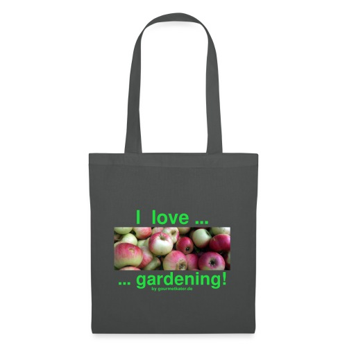 Äpfel - I love gardening! - Stoffbeutel