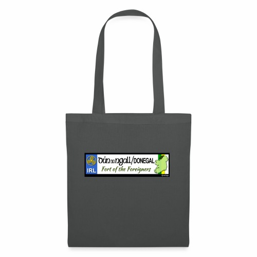 DONEGAL, IRELAND: licence plate tag style decal - Tote Bag