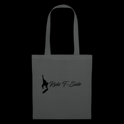 Ride T-Side - Skate Logo and Text - Black - Tote Bag