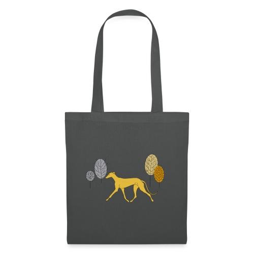 Gelber Windhund - Stoffbeutel