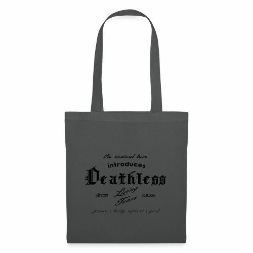 deathless living team schwarz - Stoffbeutel