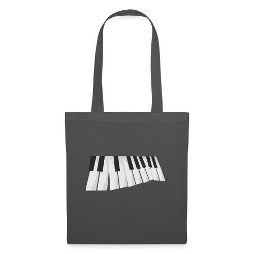 Une certaine perspective du piano en noir et blanc - Tote Bag