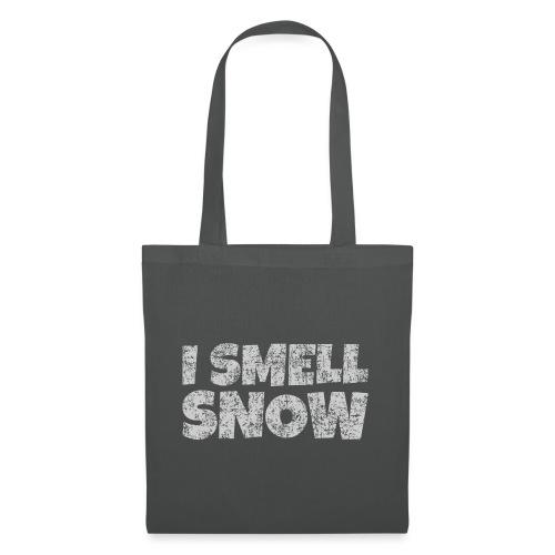 I Smell Snow (Grau) Schnee, Winter, Wintersport - Stoffbeutel