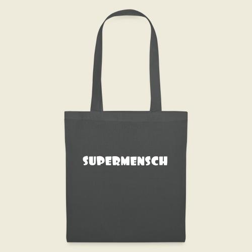 Supermensch in weiß 2 - Stoffbeutel