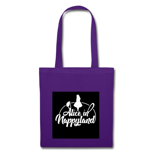 Alice in Nappyland TypographyWhite 1080 - Tote Bag