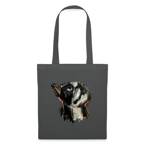 Französische Bulldogge Zeichnung - Stoffbeutel
