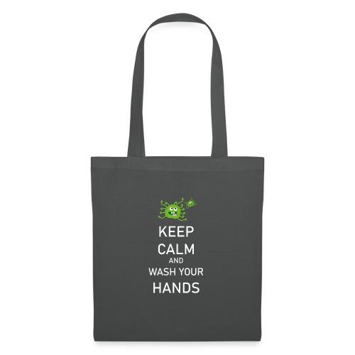 Corona Virus Hände Waschen Keep Calm - Stoffbeutel