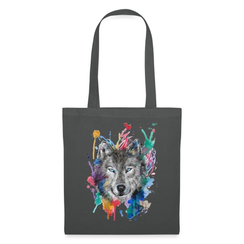 Wolf Watercolor by Nadia Luongo - Borsa di stoffa