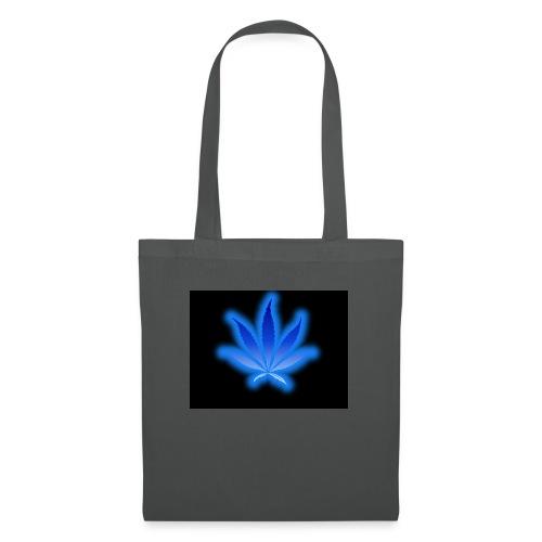 marijuana leaf blue 1 - Torba materiałowa