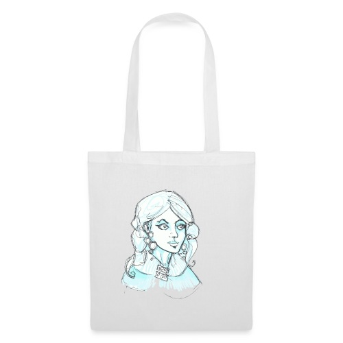 blue lady2 - Tote Bag