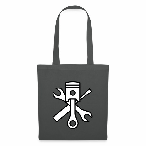 Pistons and tools 2c (+ your text) - Tote Bag