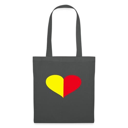 cuore giallorosso pieno - Borsa di stoffa