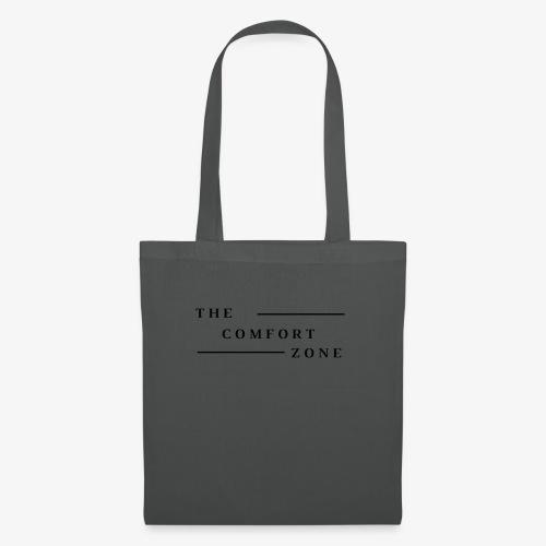 Logo zwart The Comfort Zone - Tas van stof