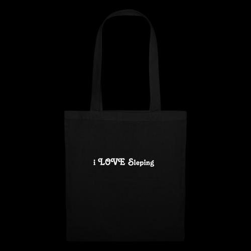 i love sleeping weiss - Borsa di stoffa