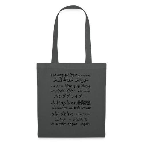deltaplane en plusieurs langues - Tote Bag