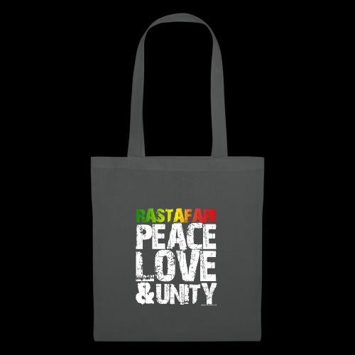 RASTAFARI - PEACE LOVE & UNITY - Stoffbeutel