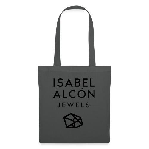 ISABEL ALCÓN JEWELS - BLACK SQUARE LOGO - Bolsa de tela