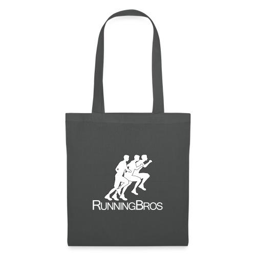 RunningBros Logo weiß - Stoffbeutel
