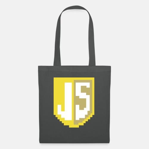 JavaScript Pixelart Logo - Stoffbeutel