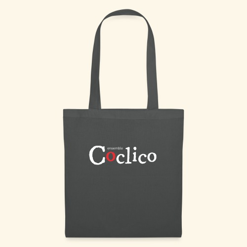 Logo Coclico blanc - Tote Bag