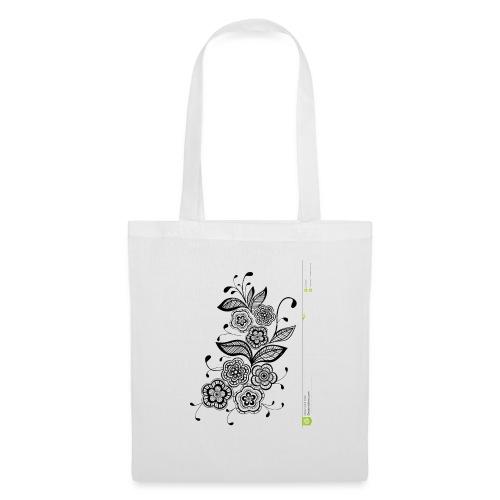 diseño de flores - Bolsa de tela