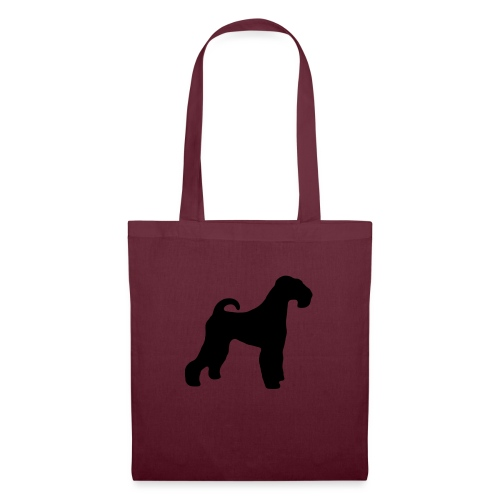 BLACK Airedale Terrier - Tote Bag
