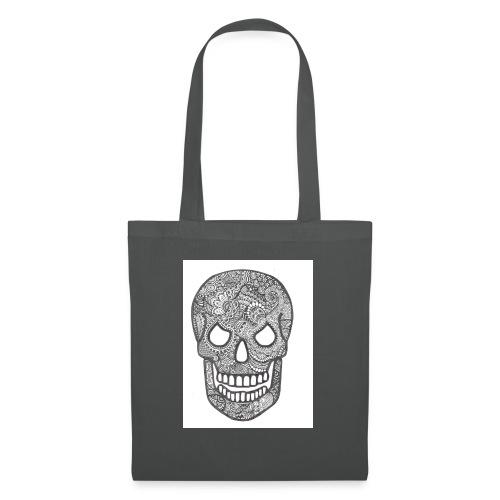 Zentangle Skull 1 - Tas van stof