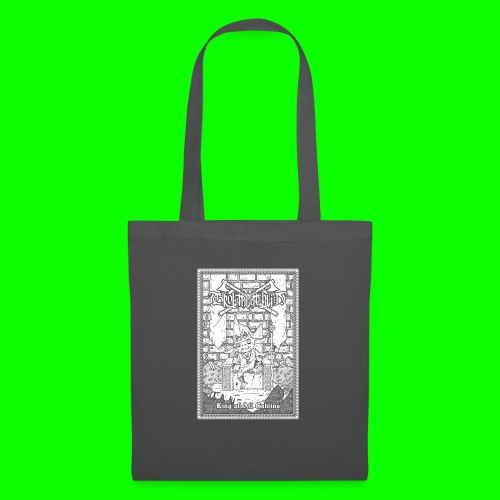 king of all goblins white on black - Tote Bag