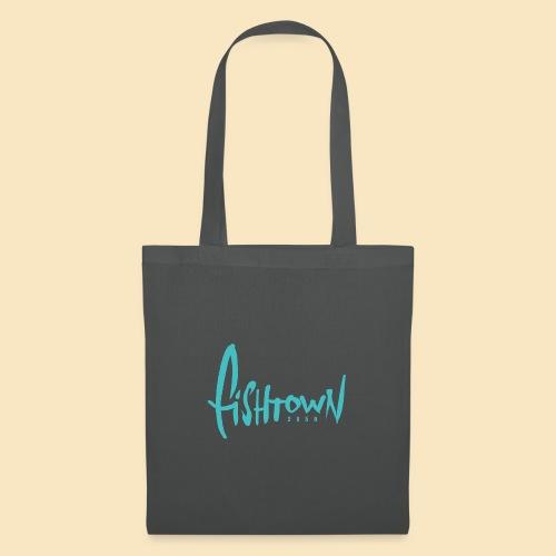 Fishtown 2850 handdrawn brightblue - Stoffbeutel