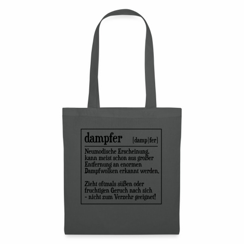 Definition Dampfer - Stoffbeutel