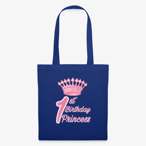 1st Birthday Princess - Borsa di stoffa