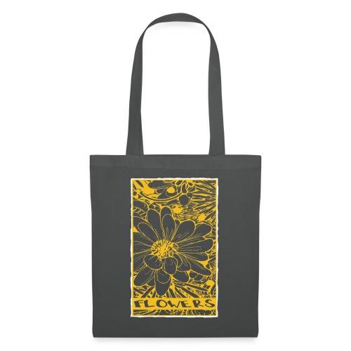 bloemen geel wit - Tas van stof