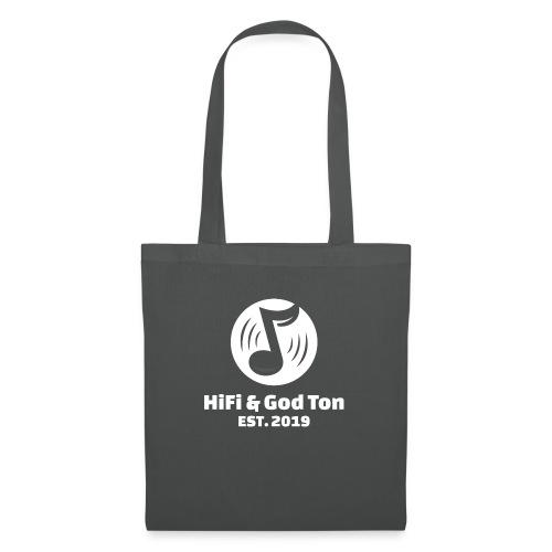 HiFi & God Ton logo vit - Tygväska