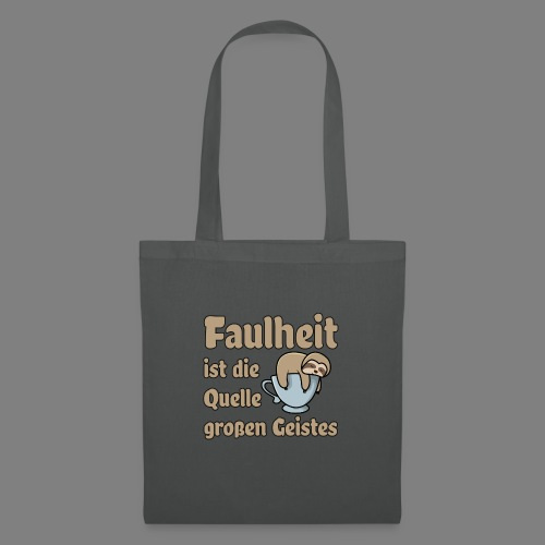 Faulheit - Stoffbeutel