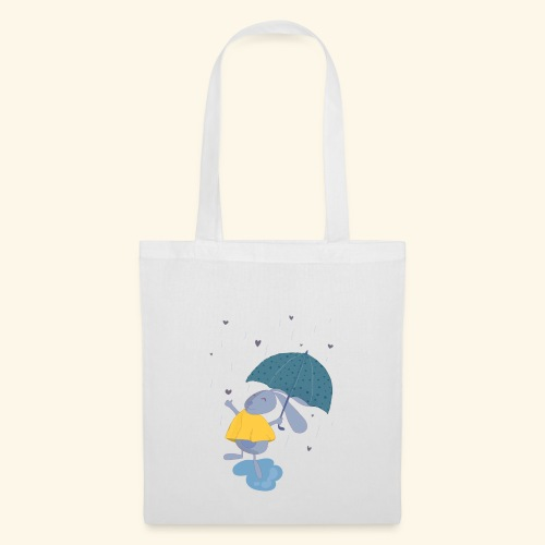 happy in the rain - Tote Bag