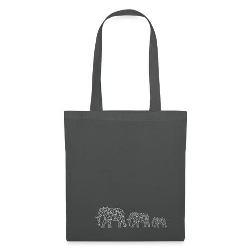 Geometrische Elefantenfamilie - Stoffbeutel