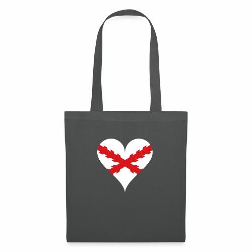 Corazón Borgoña - Bolsa de tela