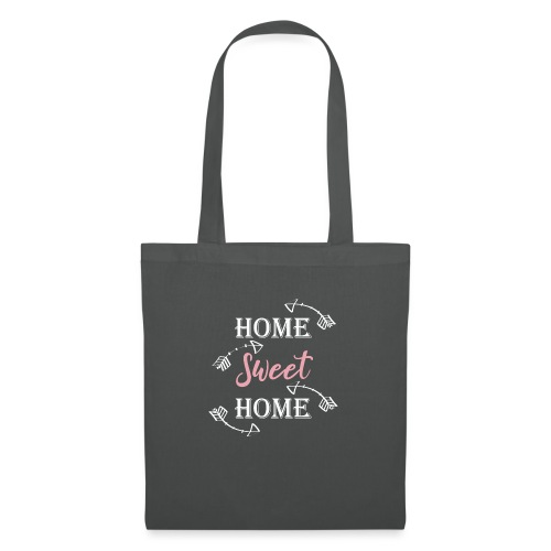 Hygge Hogar dulce hogar fondo oscuro - Bolsa de tela