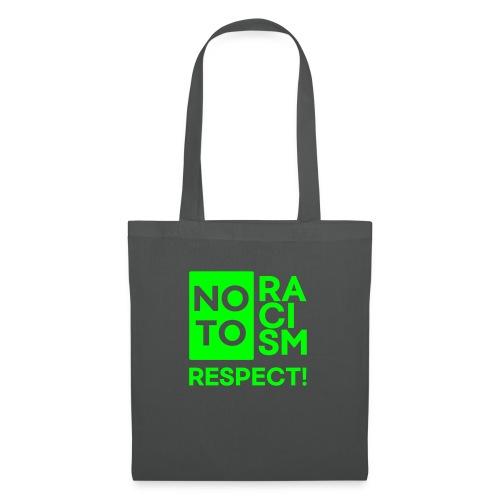 no to racism respect - Stoffbeutel