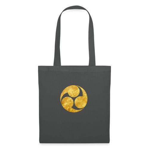 Kobayakawa Mon Japanese clan gold on black - Tote Bag