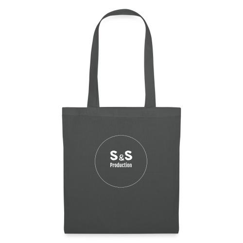 SandS. Standar kopp svart, hvit logo - Stoffveske