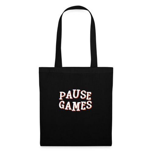 Pause Games Text - Tote Bag