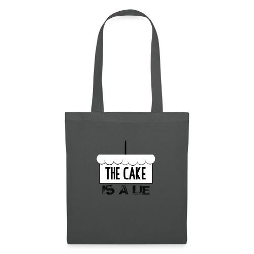 Der Kuchen ist eine Lüge - Stoffbeutel