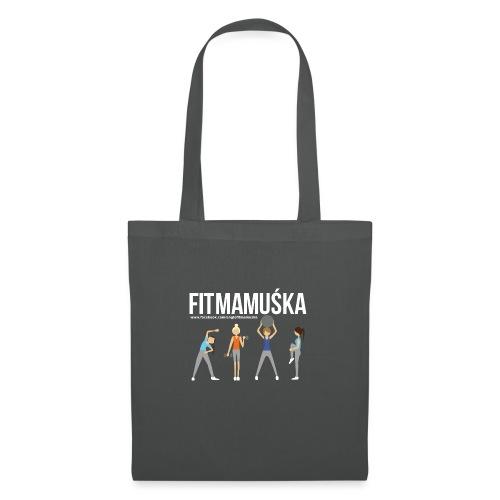 Fitmamuśka - Koszulka Czarna - Torba materiałowa