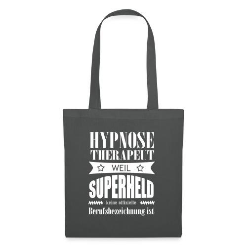 Hypnosetherapeut Superheld Schrift weiss - Stoffbeutel