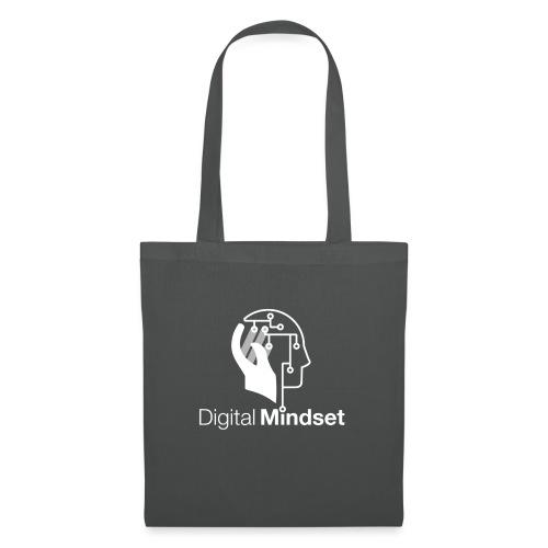 Digital Mindset Logo Weiß - Stoffbeutel