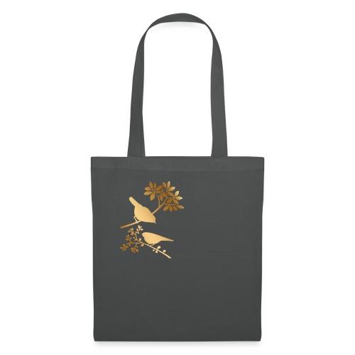 vogeltjes goud - Tas van stof