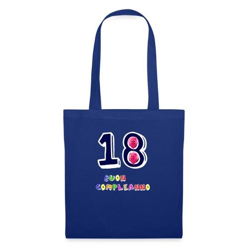 18 BUON compleanno - Borsa di stoffa